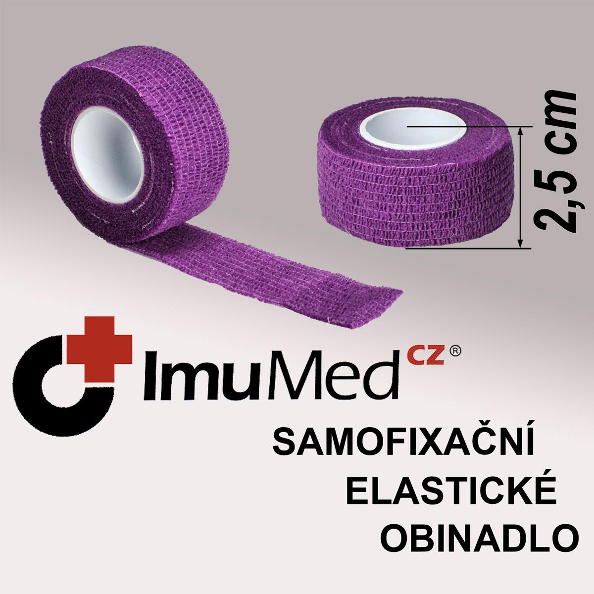 ImuMedCZ samofixační elastické obinadlo 2,5 cm x 4,5m FIALOVÁ barva ImuMedCZ samodržící elastické obinadlo 2,5 cm x 4,5 m FIALOVA barva