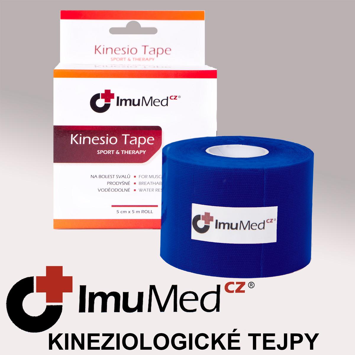 ImuMedCZ Kinesio Tape, tejpovací páska tmavě modrá 5 cm x 5 m ImuMedCZ Kineziologické tejpy