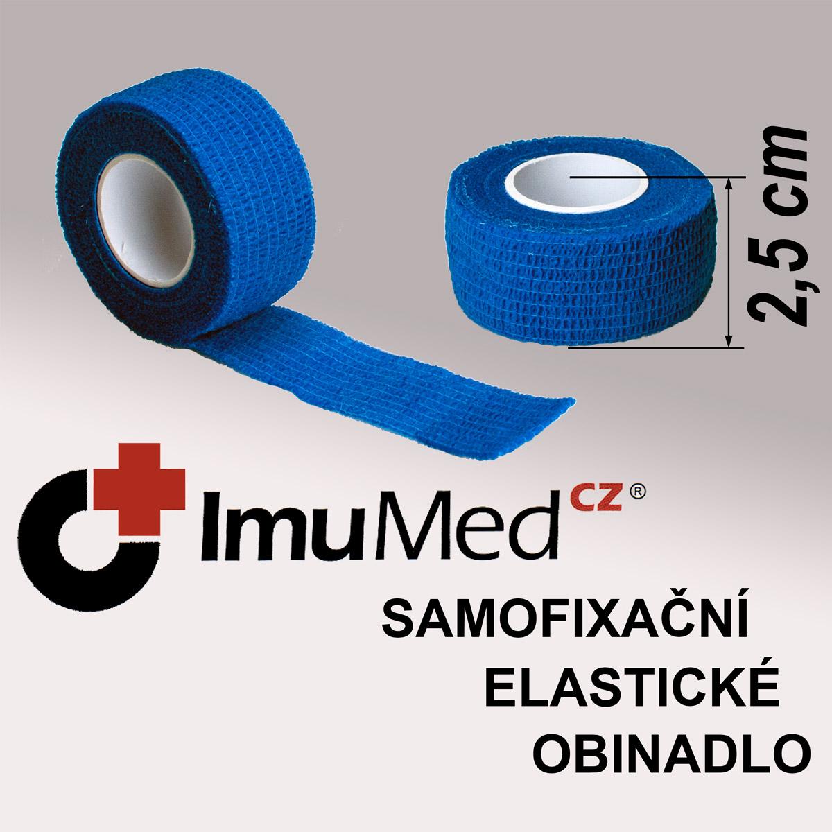 ImuMedCZ samofixační elastické obinadlo 2,5 cm x 4,5 m MODRÁ barva ImuMedCZ samodržící elastické obinadlo 2,5 cm x 4,5 m MODRÁ barva
