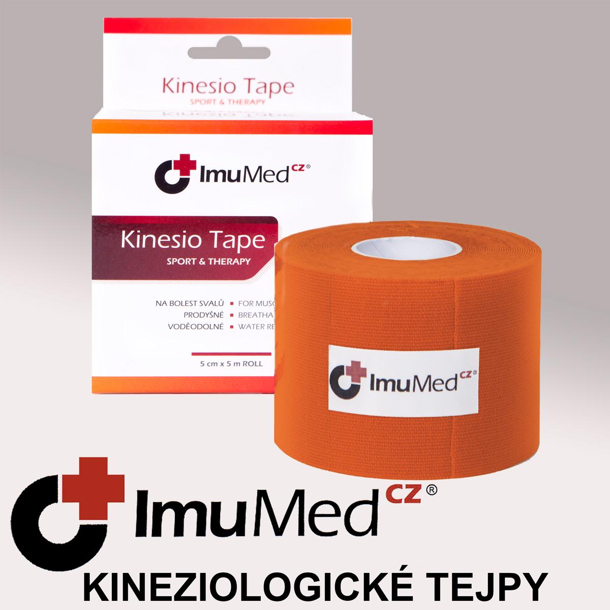 ImuMedCZ Kinesio Tape, tejpovací páska oranžová 5 cm x 5 m ImuMedCZ Kineziologické tejpy