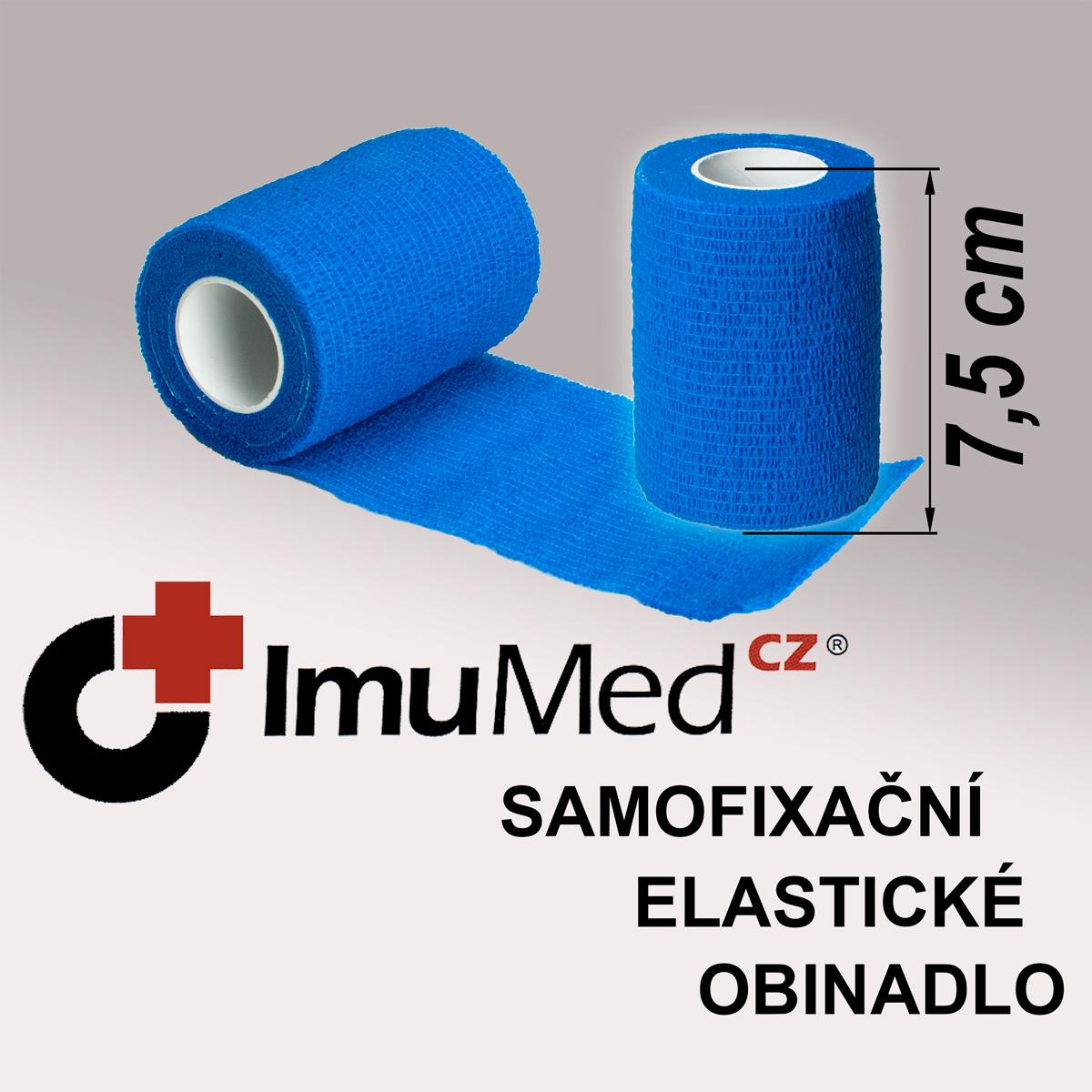ImuMedCZ samofixační elastické obinadlo 7,5 cm x 4,5 m MODRÁ ImuMedCZ samodržící elastické obinadlo 7,5 cm x 4,5 m MODRÁ