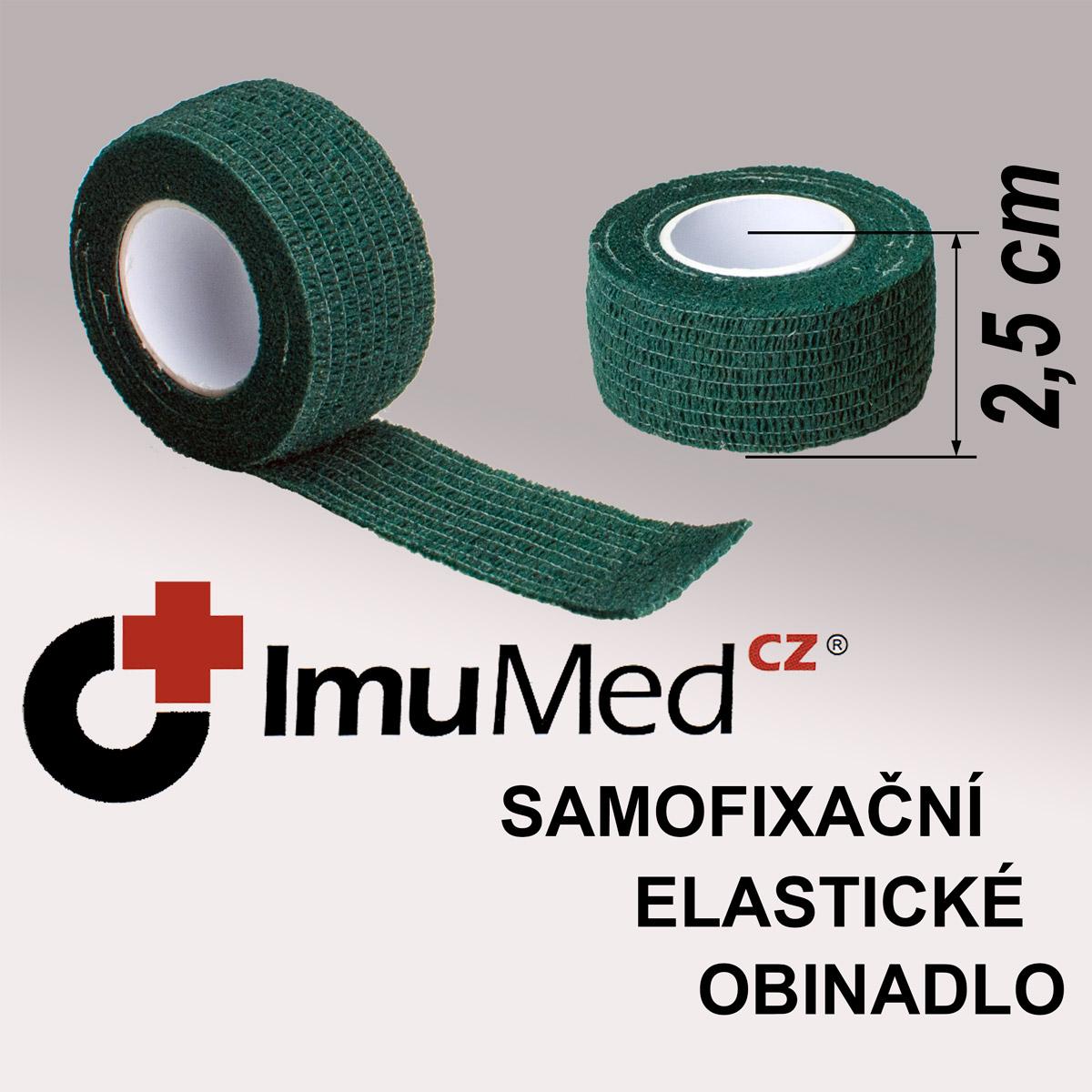 ImuMedCZ samofixační elastické obinadlo 2,5 cm x 4,5 m ZELENÁ barva ImuMedCZ samodržící elastické obinadlo 2,5 cm x 4,5 m ZELENÁ barva
