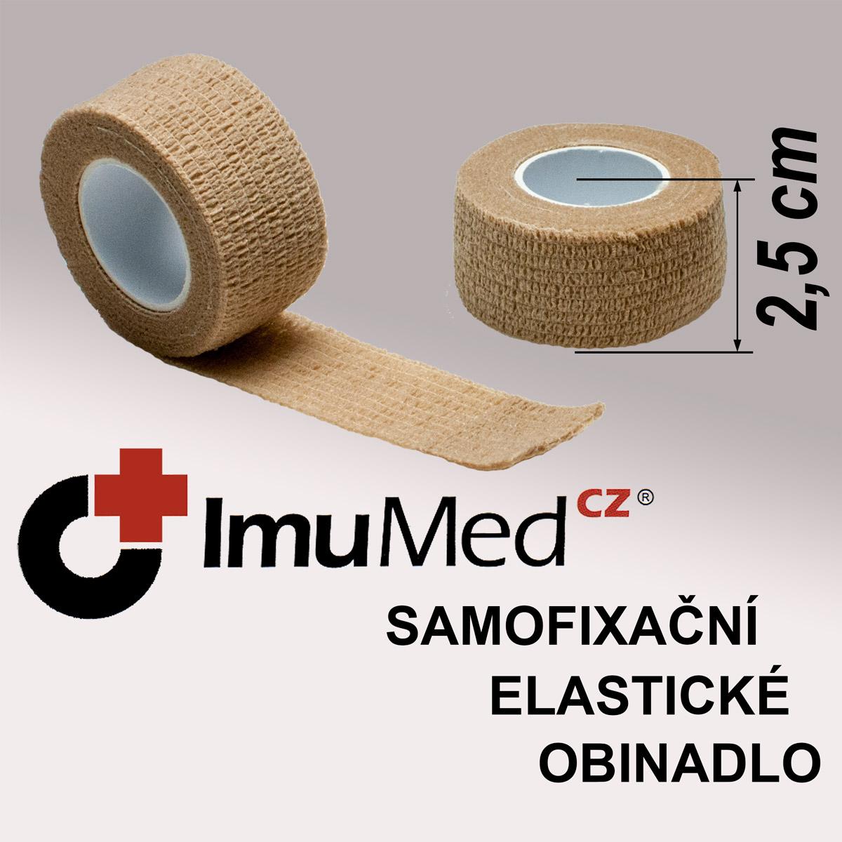 ImuMedCZ samofixační elastické obinadlo 2,5 cm x 4,5 m TĚLOVÁ barva ImuMedCZ samodržící elastické obinadlo 2,5 cm x 4,5 m TĚLOVÁ barva