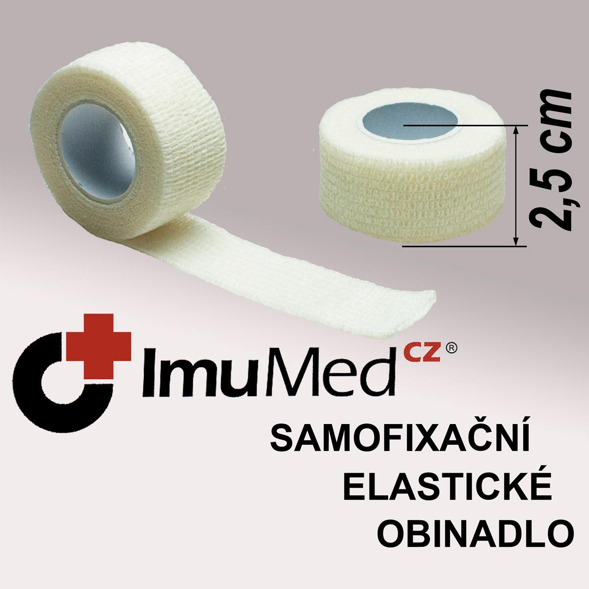 ImuMedCZ samofixační elastické obinadlo 2,5 cm x 4,5 m BÍLÁ barva ImuMedCZ samodržící elastické obinadlo 2,5 cm x 4,5 m BÍLÁ barva