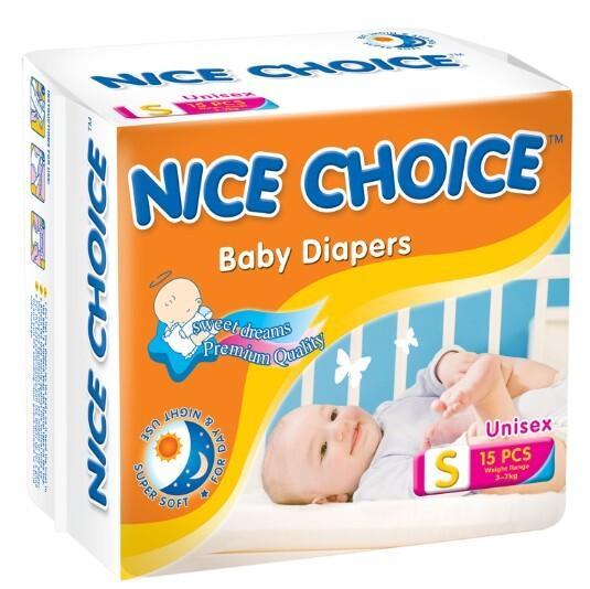 pleny S 3-7 kg 1 ks NICE CHOICE Dětské pleny pleny S 3-7 kg 1 ks NICE CHOICE Dětské pleny