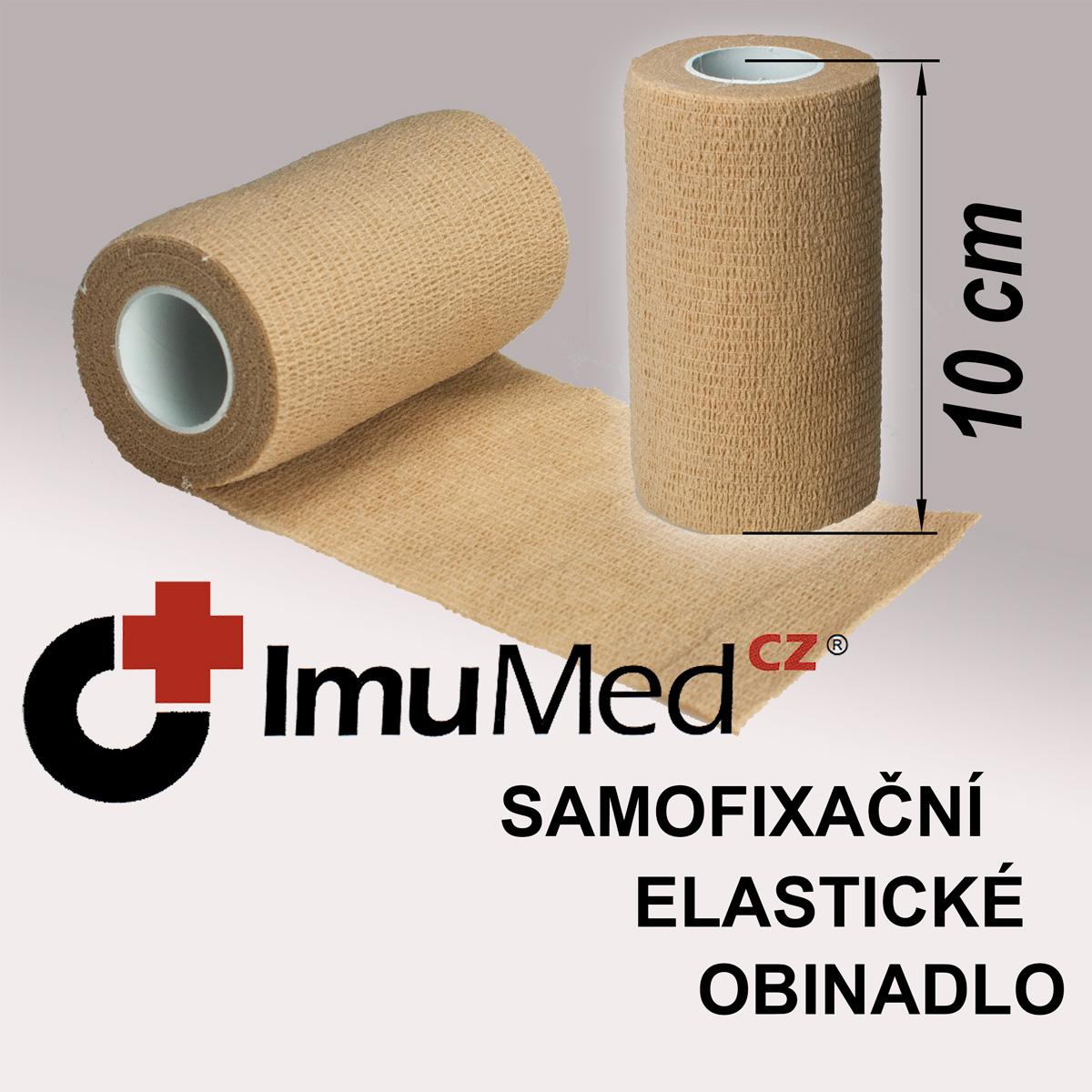 ImuMedCZ samofixační elastické obinadlo 10 cm x 4,5 m TĚLOVÁ barva ImuMedCZ samofixační elastické obinadlo 10 cm x 4,5 m TĚLOVÁ barva