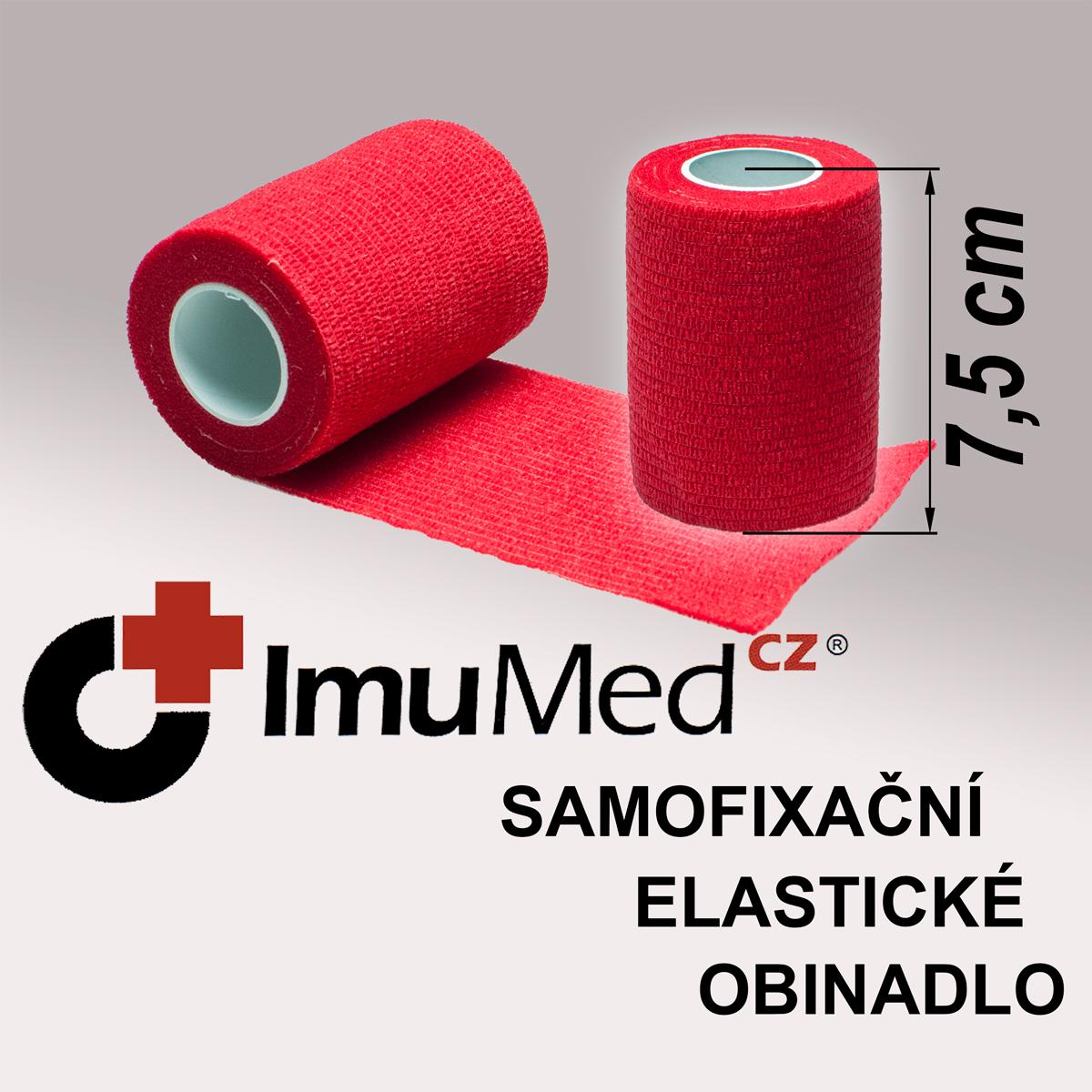 ImuMedCZ samofixační elastické obinadlo 7,5cm x 4,5m ČERVENÁ barva ImuMedCZ samodržící elastické obinadlo 7,5cm x 4,5m ČERVENÁ barva