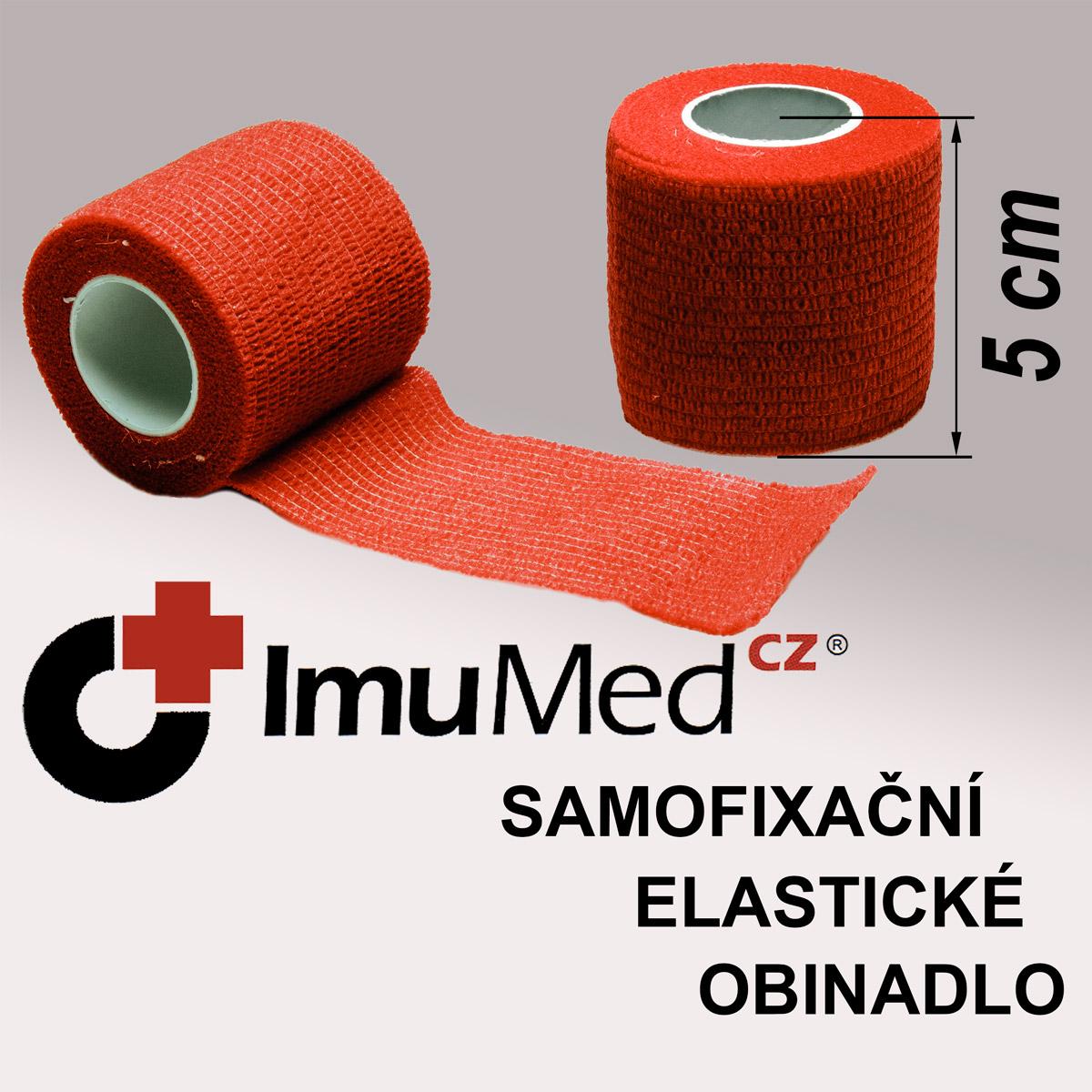 ImuMedCZ samofixační elastické obinadlo 5cm x 4,5m ČERVENÁ barva ImuMedCZ samodržící elastické obinadlo 5cm x 4,5m ČERVENÁ barva