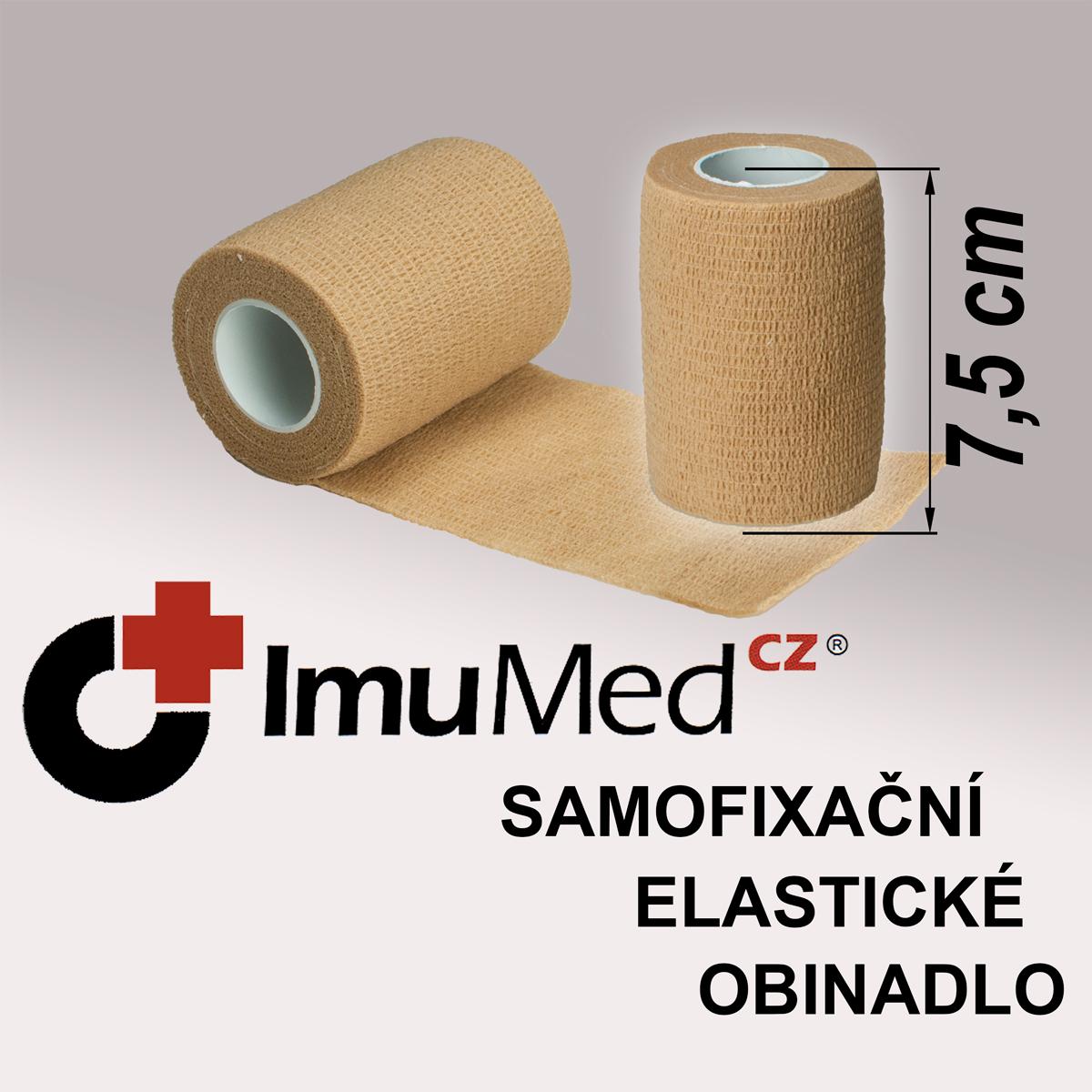 ImuMedCZ samofixační elastické obinadlo 7,5cm x 4,5m TĚLOVÁ barva ImuMedCZ samodržící elastické obinadlo 7,5cm x 4,5m TĚLOVÁ barva