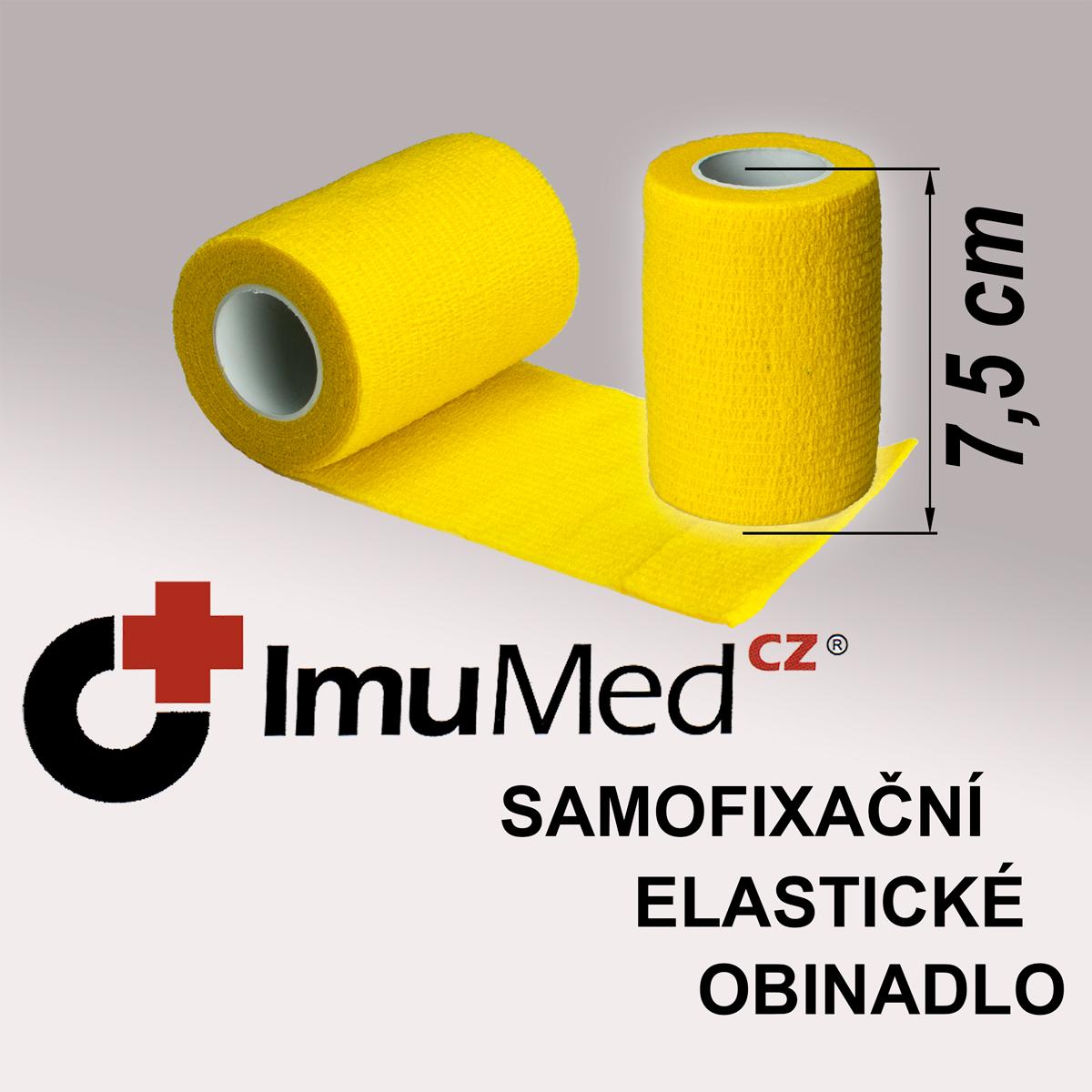 ImuMedCZ samofixační elastické obinadlo 7,5cm x 4,5m ŽLUTÁ barva ImuMedCZ samodržící elastické obinadlo 7,5cm x 4,5m ŽLUTÁ barva