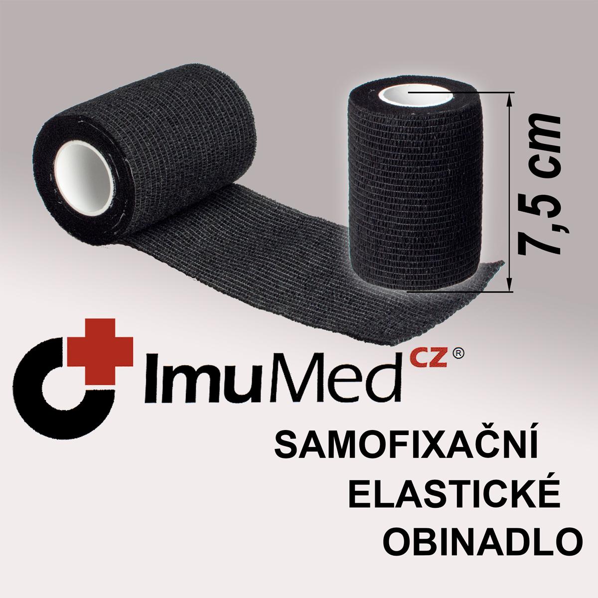 ImuMedCZ samofixační elastické obinadlo 7,5cm x 4,5m ČERNÁ barva ImuMedCZ samodržící elastické obinadlo 7,5cm x 4,5m ČERNÁ barva