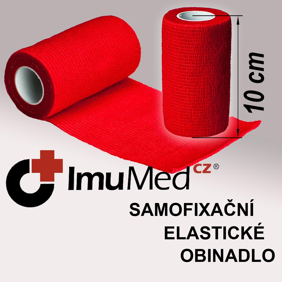 ImuMedCZ samofixační elastické obinadlo 10 cm x 4,5 m ČERVENÁ barva ImuMedCZ samodržící elastické obinadlo 10 cm x 4,5 m ČERVENÁ barva