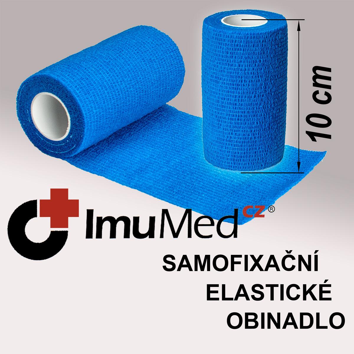 ImuMedCZ samofixační elastické obinadlo 10 cm x 4,5 m MODRÁ barva ImuMedCZ samodržící elastické obinadlo 10 cm x 4,5 m MODRÁ barva