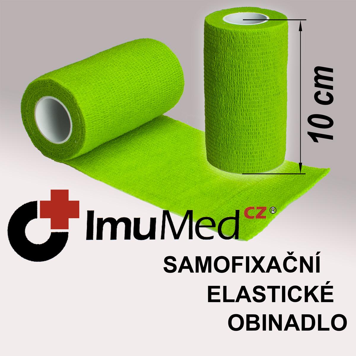 ImuMedCZ samofixační elastické obinadlo 10 cm x 4,5 m ZELENÁ barva ImuMedCZ samodržící elastické obinadlo 10 cm x 4,5 m ZELENÁ barva