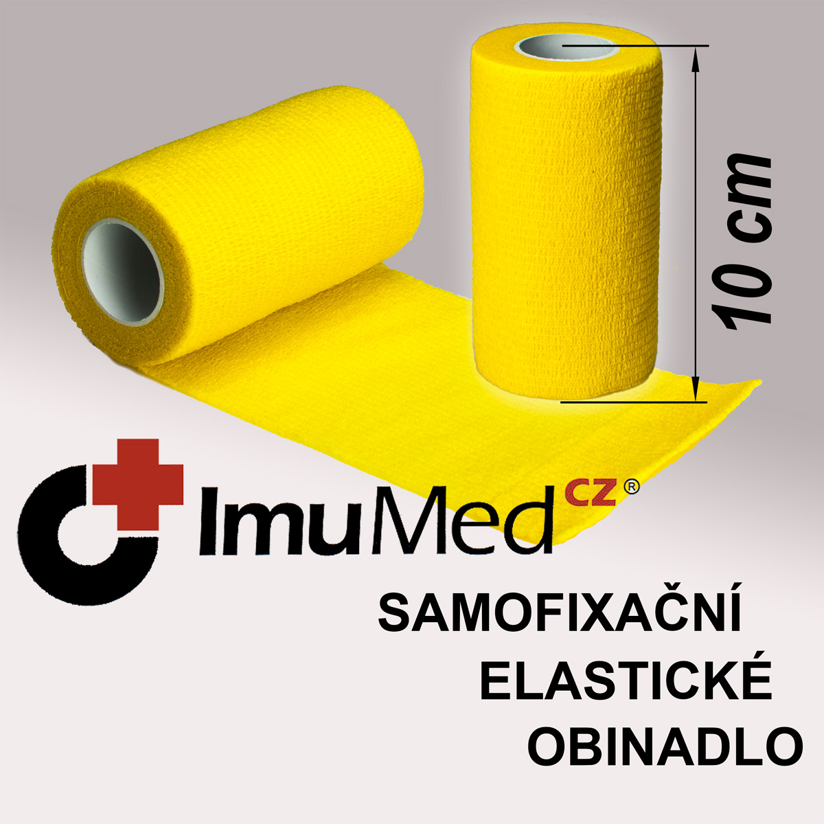 ImuMedCZ samofixační elastické obinadlo 10 cm x 4,5 m ŽLUTÁ barva ImuMedCZ samodržící elastické obinadlo 10 cm x 4,5 m ŽLUTÁ barva