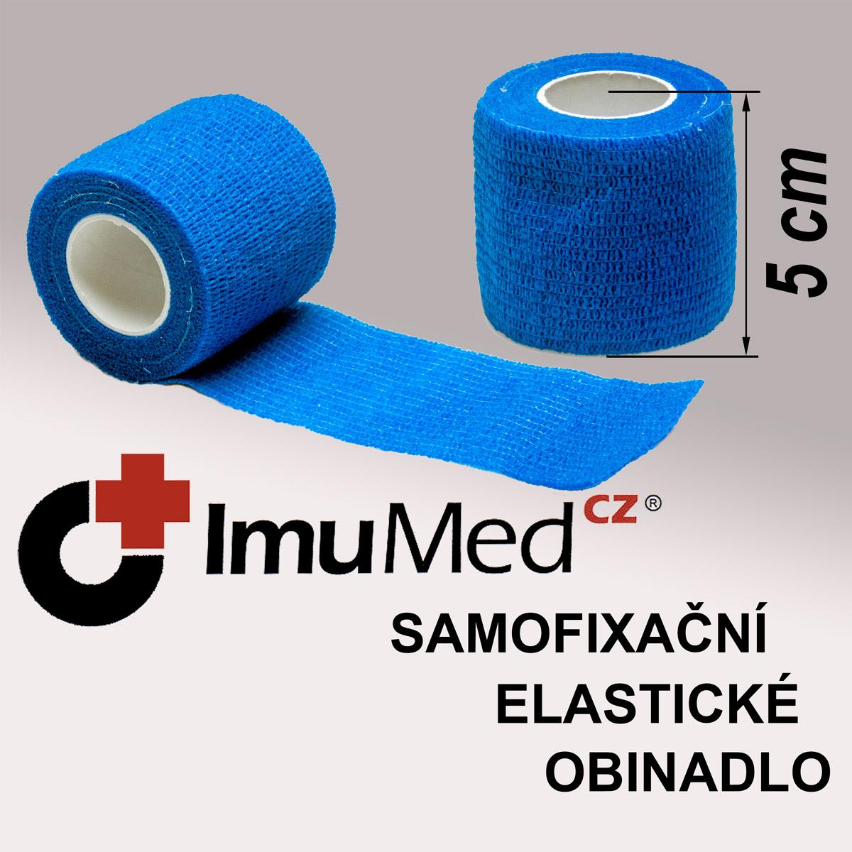 ImuMedCZ samofixační elastické obinadlo 5 cm x 4,5 m MODRÁ barva ImuMedCZ samodržící elastické obinadlo 5 cm x 4,5 m MODRÁ barva