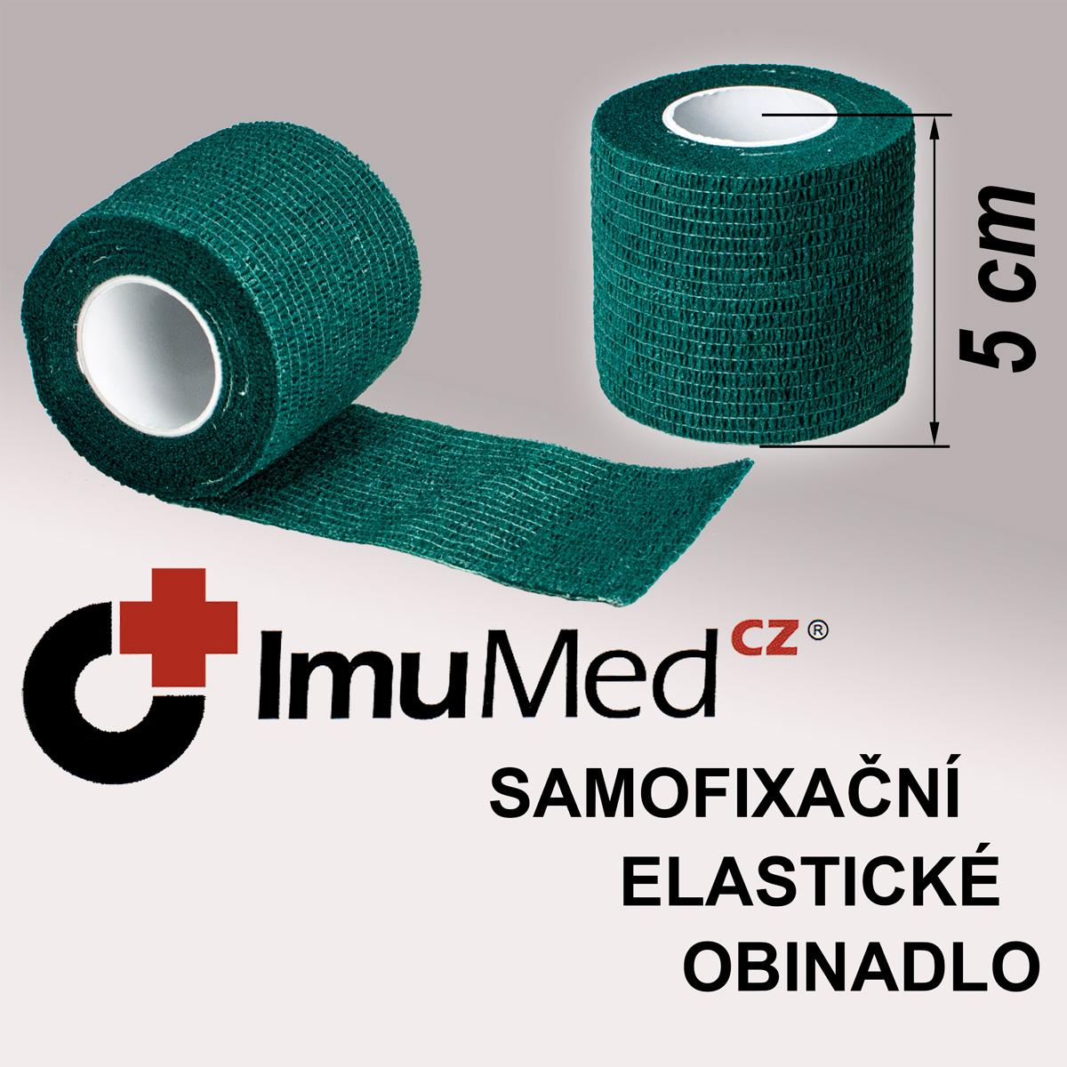 ImuMedCZ samofixační elastické obinadlo 5 cm x 4,5 m ZELENÁ barva ImuMedCZ samodržící elastické obinadlo 5 cm x 4,5 m ZELENÁ barva