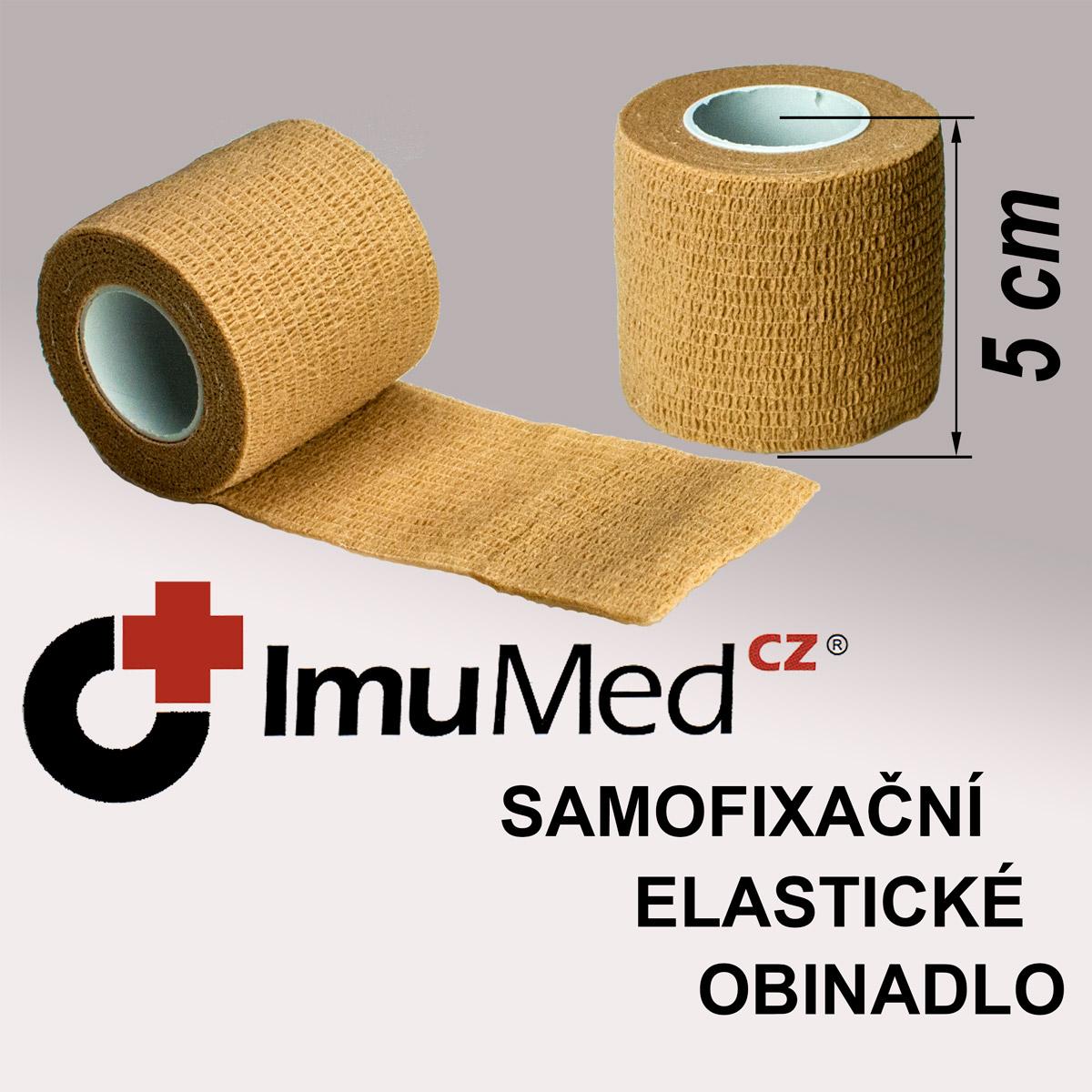 ImuMedCZ samofixační elastické obinadlo 5 cm x 4,5 m TĚLOVÁ barva ImuMedCZ samodržící elastické obinadlo 5 cm x 4,5 m TĚLOVÁ barva