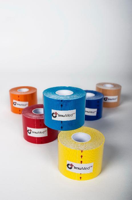 ImuMedCZ Kinesi tejp 5 cm x 5 m - mix 6 barev ImuMedCZ Kinesi tejp 5 cm x 5 m - mix 6 barev