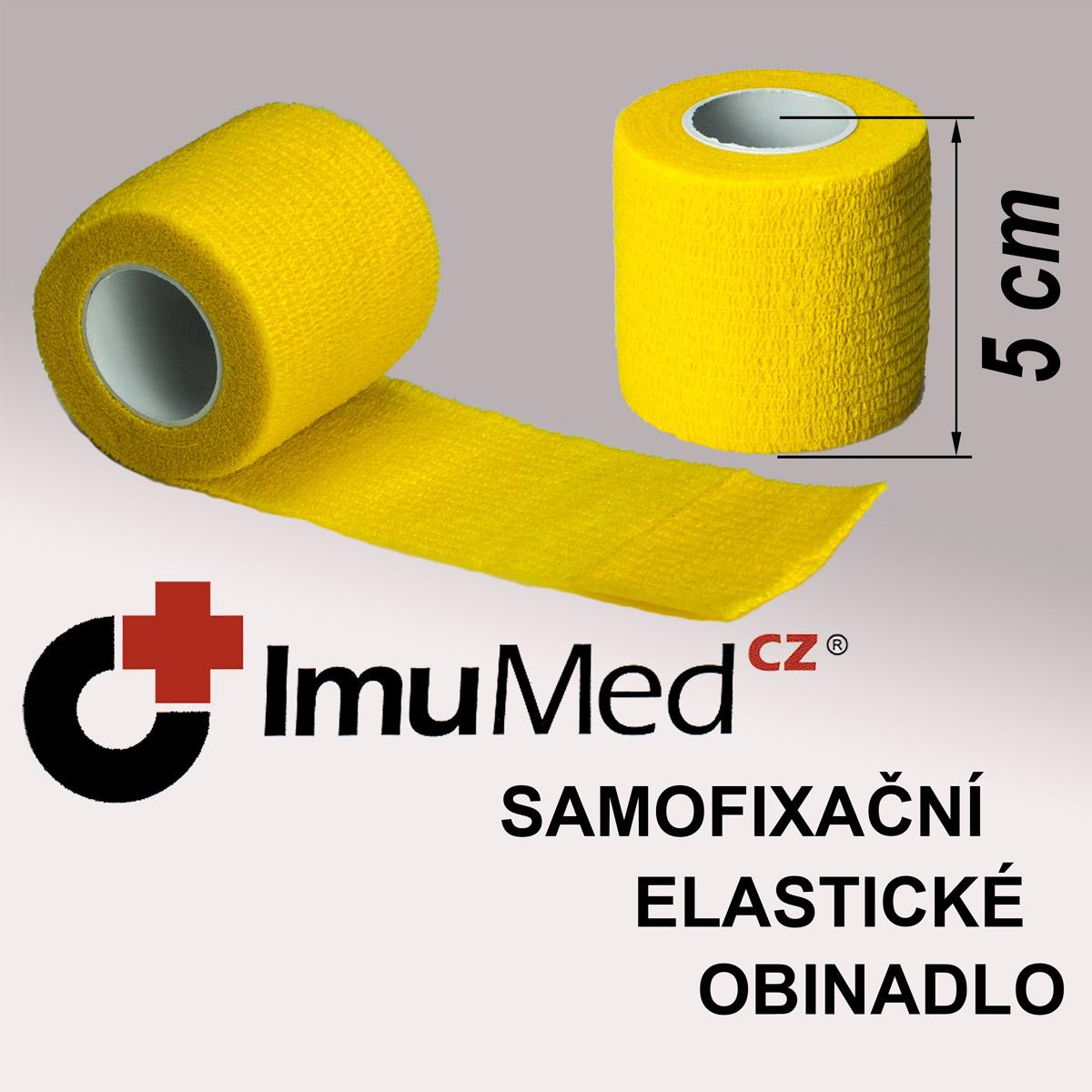 ImuMedCZ samofixační elastické obinadlo 5 cm x 4,5 m ŽLUTÁ barva ImuMedCZ samodržící elastické obinadlo 5 cm x 4,5 m ŽLUTÁ barva