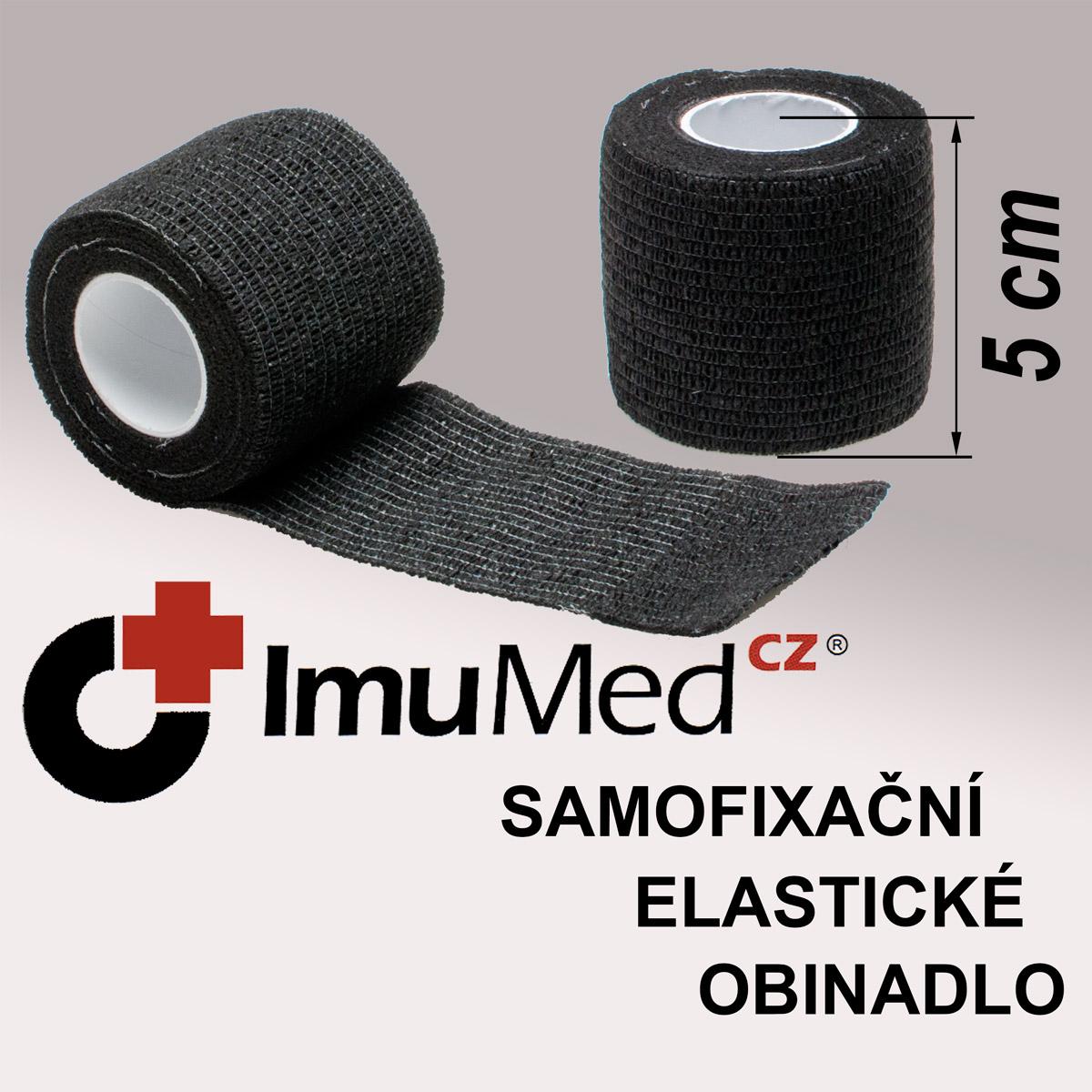 ImuMedCZ samofixační elastické obinadlo 5 cm x 4,5 m ČERNÁ barva ImuMedCZ samodržící elastické obinadlo 5 cm x 4,5 m ČERNÁ barva