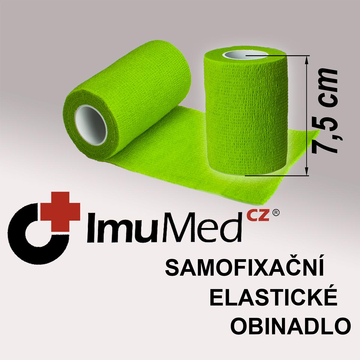ImuMedCZ samofixační elastické obinadlo 7,5cm x 4,5m ZELENÁ barva ImuMedCZ samodržící elastické obinadlo 7,5cm x 4,5m ZELENÁ barva